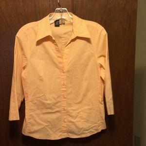 Orange and white gingham shirt